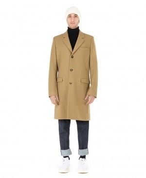 Manteau droit laine