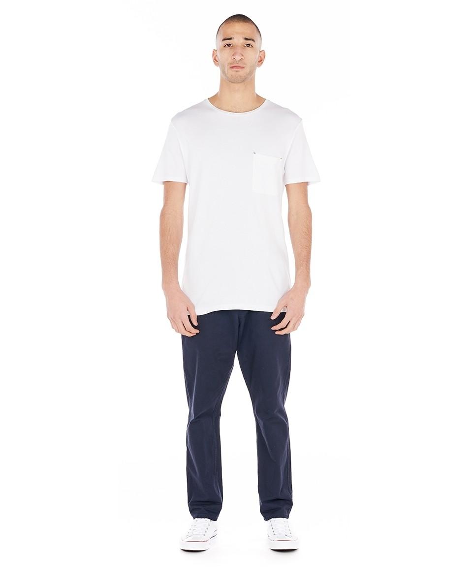 Tee-shirt uni à poche poitrine