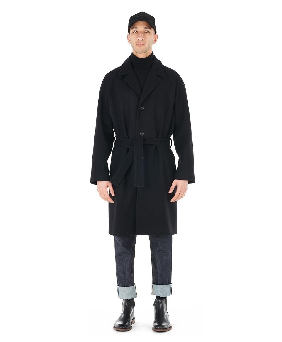 Manteau ceinturé laine