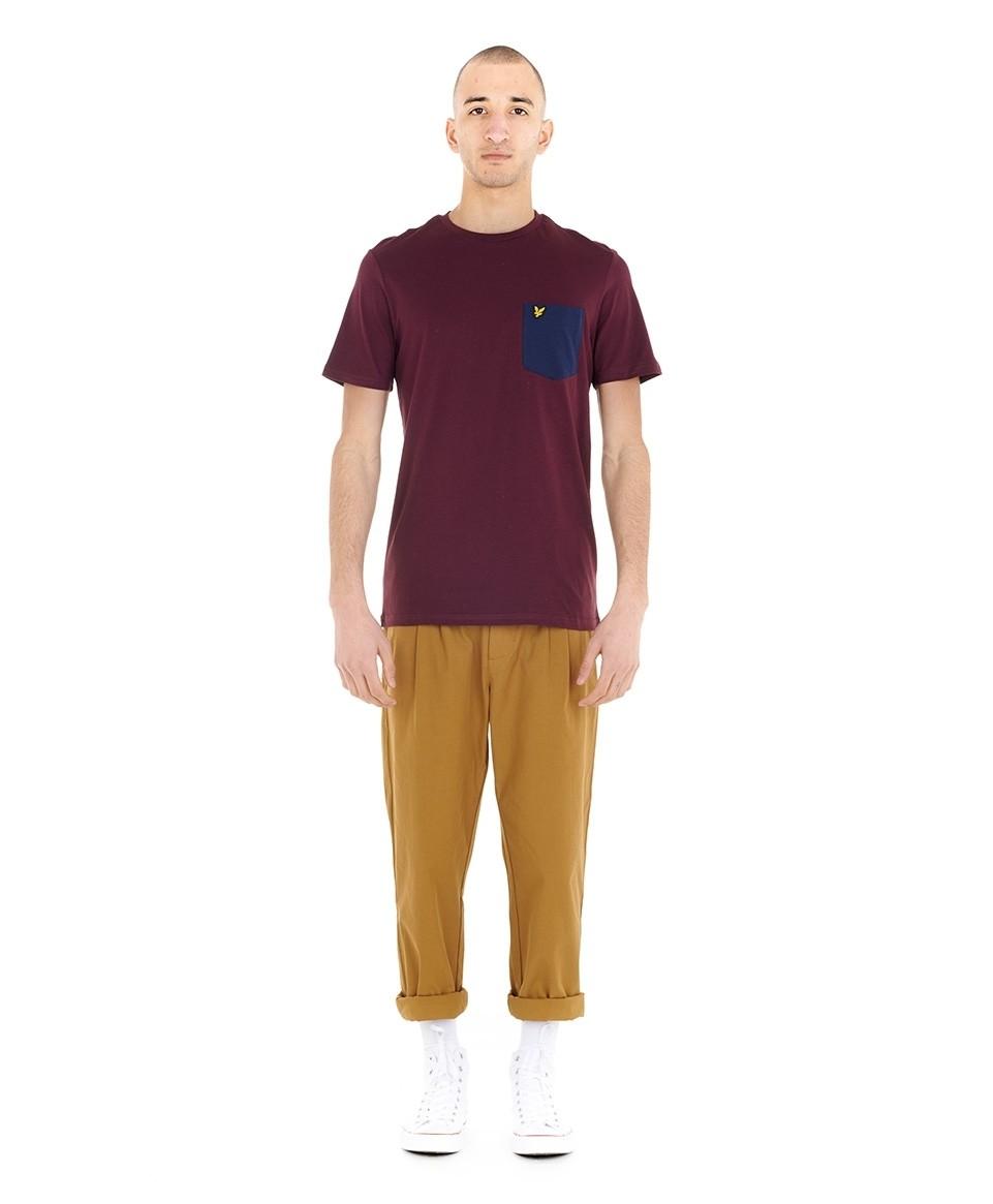 Tee-shirt uni poche poitrine