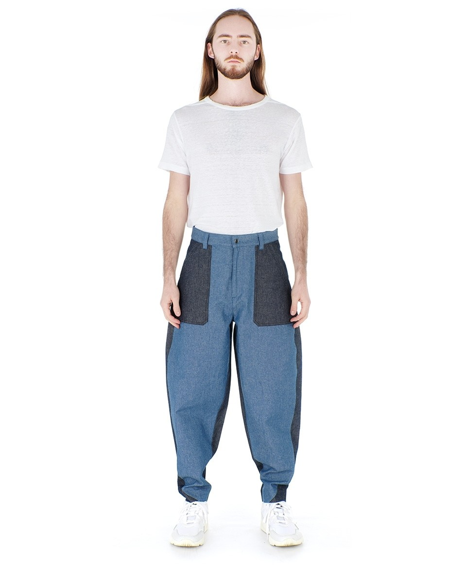 Jean colorblock