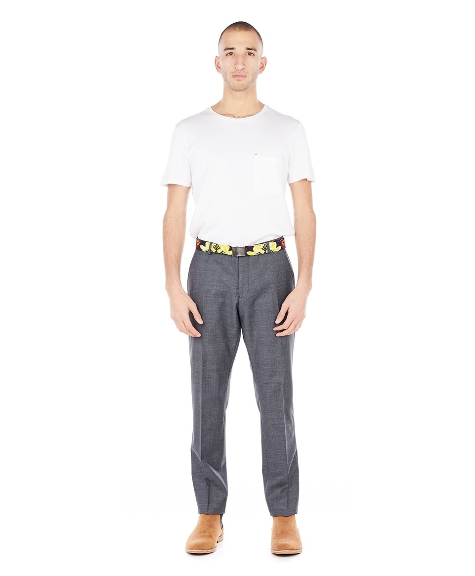 Pantalon costume slim gris