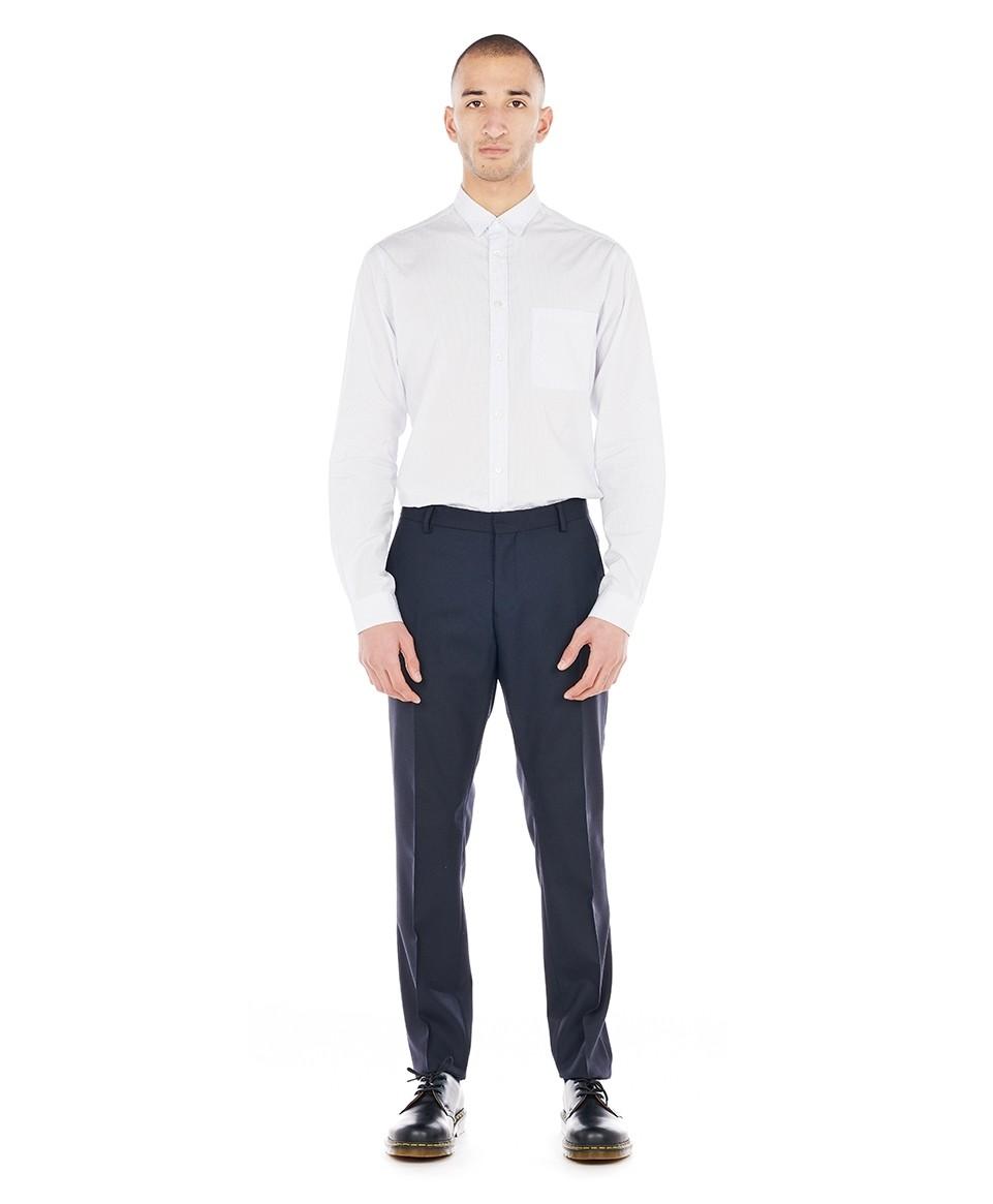Pantalon costume slim marine