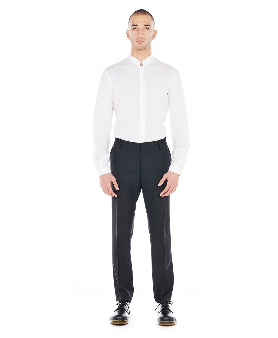 Pantalon costume slim noir