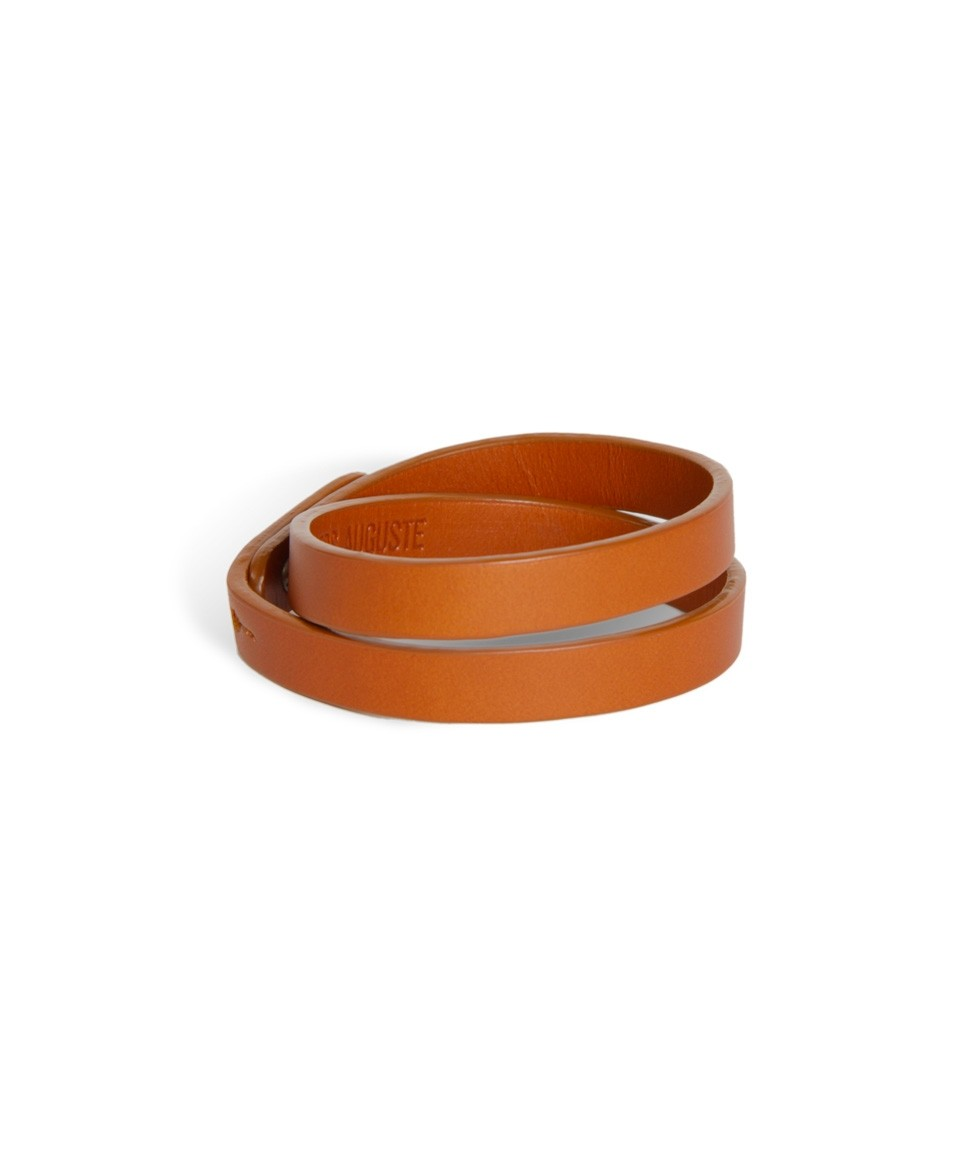 Bracelet deux tours en cuir